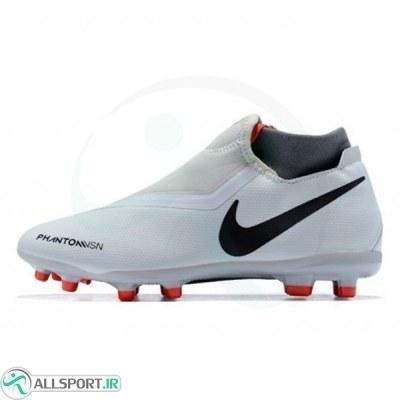 کفش فوتبال نایک فانتوم طرح اصلی سفید Nike Phantom FG Black Light Crimson Dark Grey
