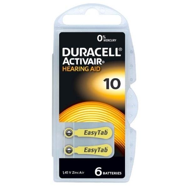 عکس باتری سمعک دوراسل شماره ۱۰ بسته ۶ عددی  باتری-سمعک-دوراسل-شماره-10-بسته-6-عددی