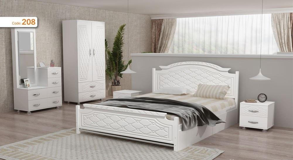 تصویر تخت خواب دو نفره مدل روژان | فروشگاه اینترنتی چوب چوب