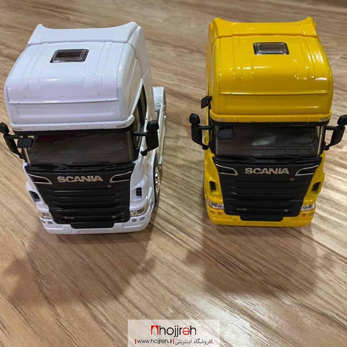 تصویر ماکت تریلی فلزی کشنده اسکانیا Scania R730 V8 ویلی welly اسباب بازی و کلکسیونی