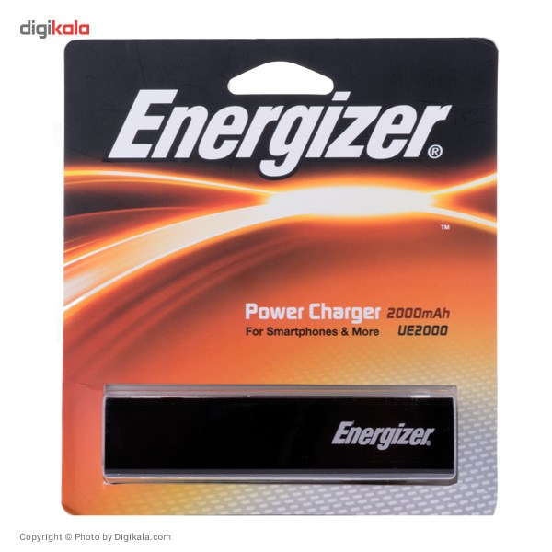 img شارژر همراه انرجايزر مدل UE2000 با ظرفيت 2000 ميلي آمپر ساعت Energizer UE2000 2000mAh Power Bank