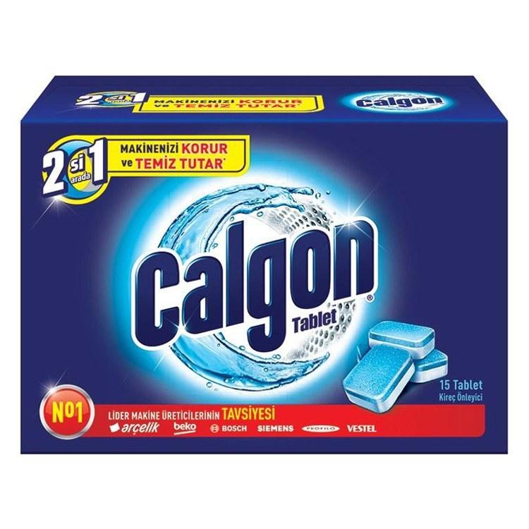 قرص جرم گیر ماشین لباسشویی کالگون بسته 15 عددی | Calgon 2 in1 Water Softener Tablets