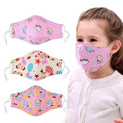 تصویر ماسک سه بعدی جعبه 20 عددی کودک با پوشش کامل