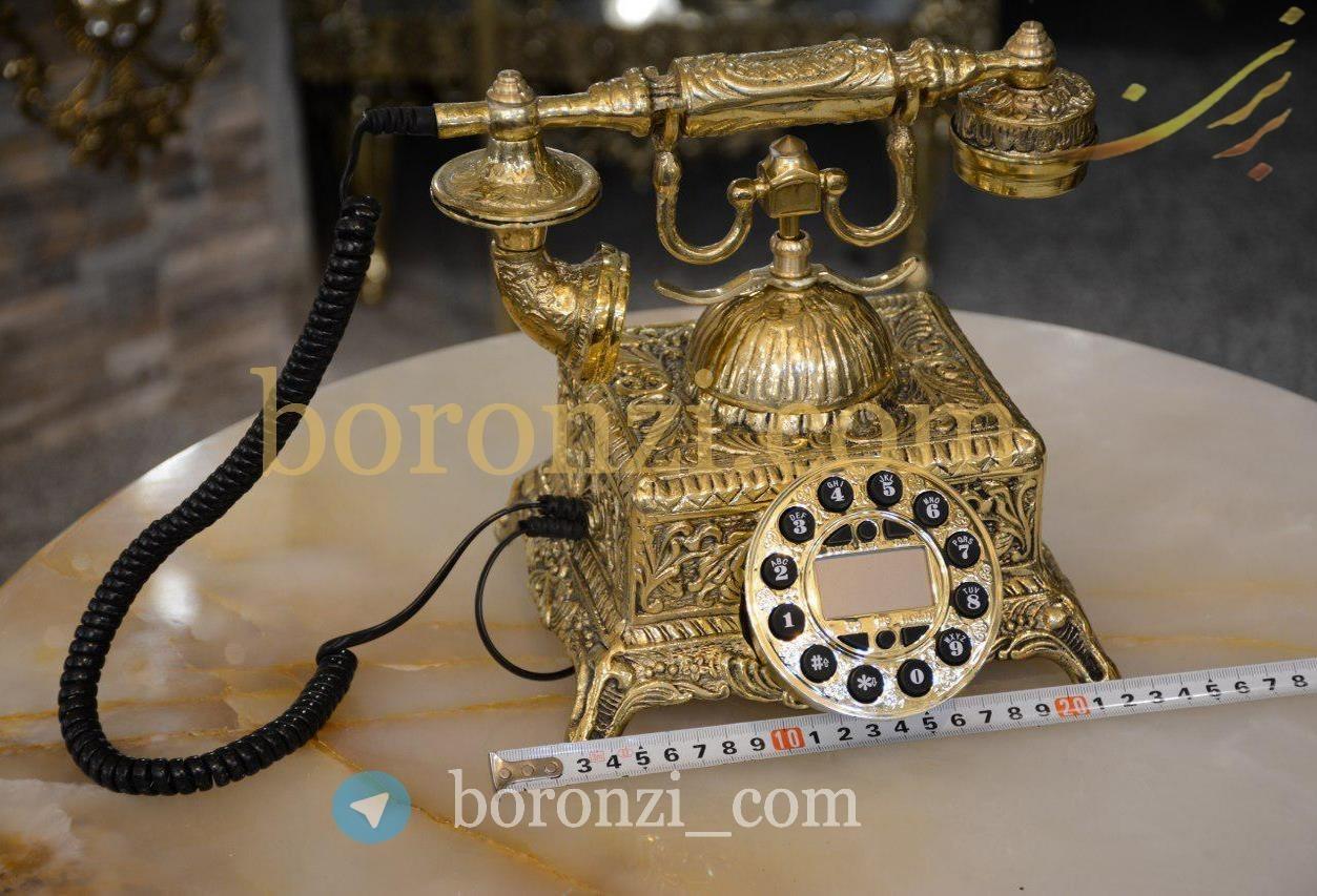 تصویر تلفن مربع آیدی کالر برنزی