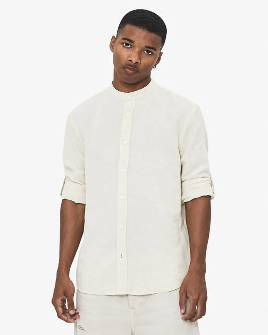 پیراهن آستین کوتاه برشکا با کد 6069/619/712 ( Stand-up collar shirt ) | پیراهن آستین کوتاه مردانه برشکا