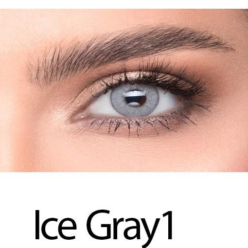 تصویر لنز رنگی چشم خاکستری یخی لاکی لوک مدل Ice Gray 1