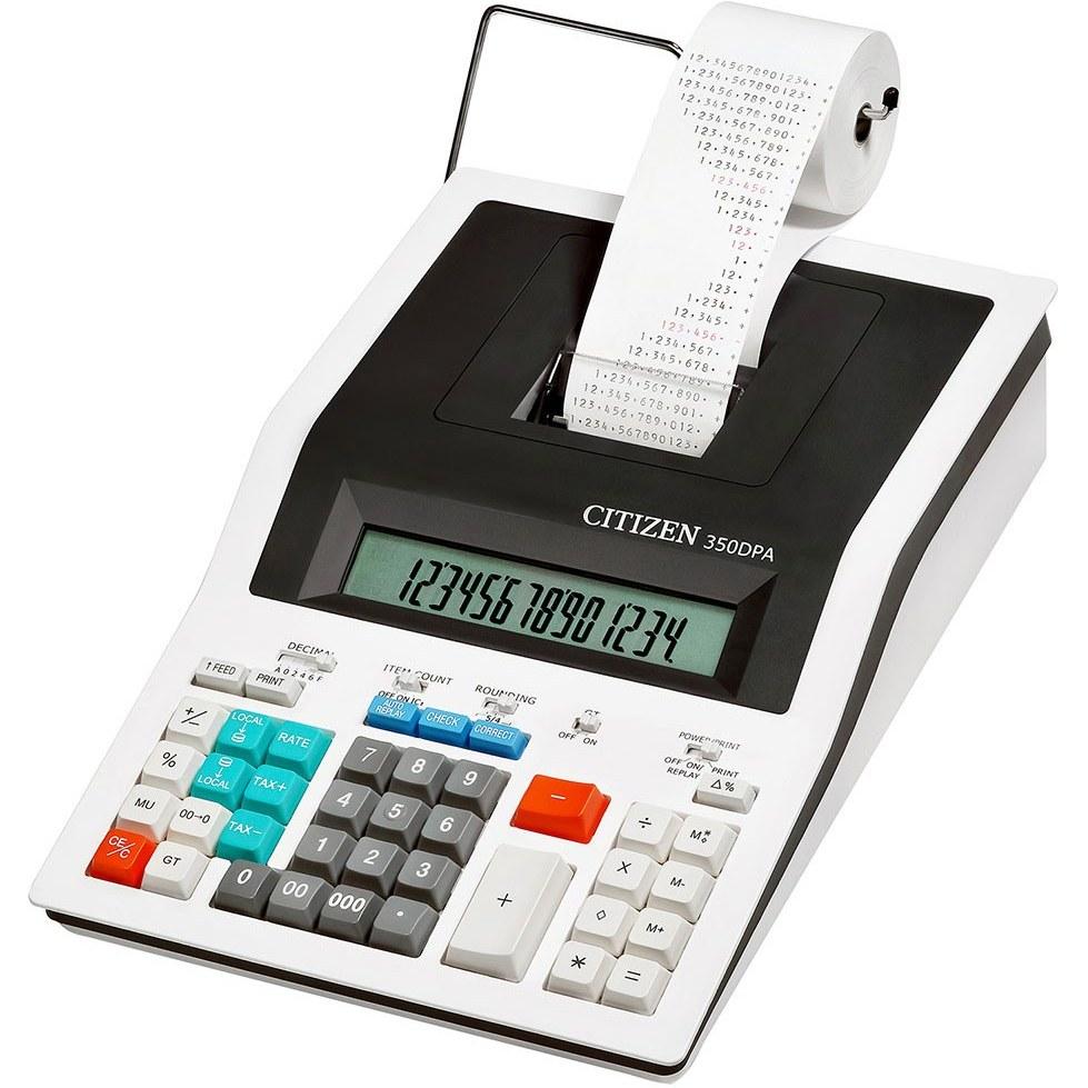 تصویر ماشین حساب سیتیزن مدل 350DPA Citizen 350DPA Desktop Printing Calculator