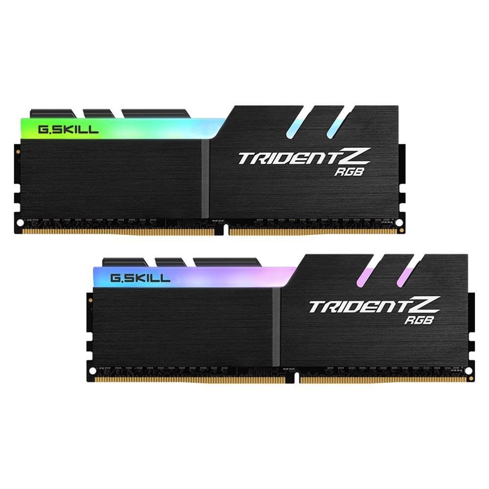 تصویر رم  CL16 DDR4 جی اسکیل 16 گیگابایت 3200MHZ مدل TRIDENT Z RGB