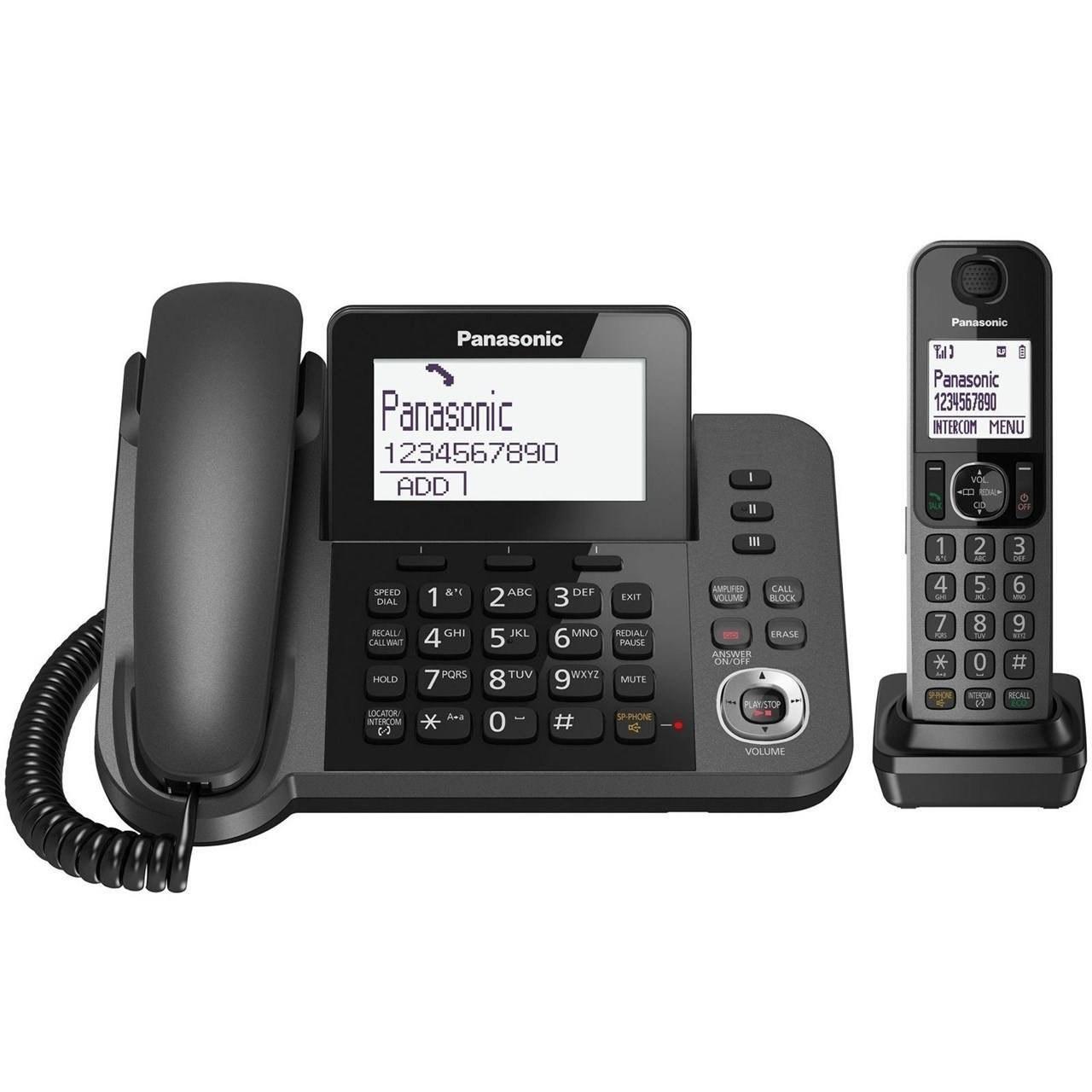 عکس گوشی تلفن ثابت و بی سیم  پاناسونیک Corded-Cordless Combo Telephone KX-TGF320JX گوشی-تلفن-ثابت-و-بی-سیم-پاناسونیک