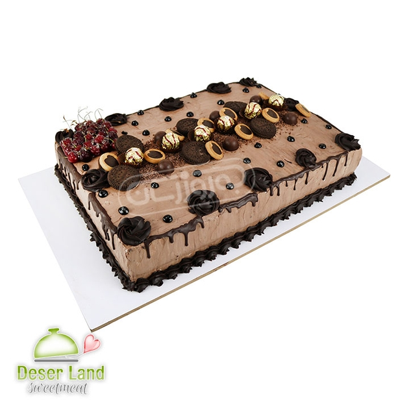 تصویر کیک شکلاتی خانگی دسرلند