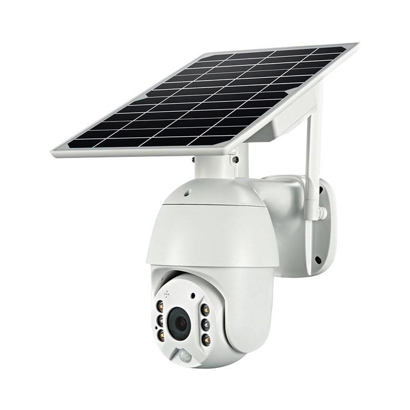 تصویر دوربین چرخشی خورشیدی مدل سیم کارتی(8w power solar panel)