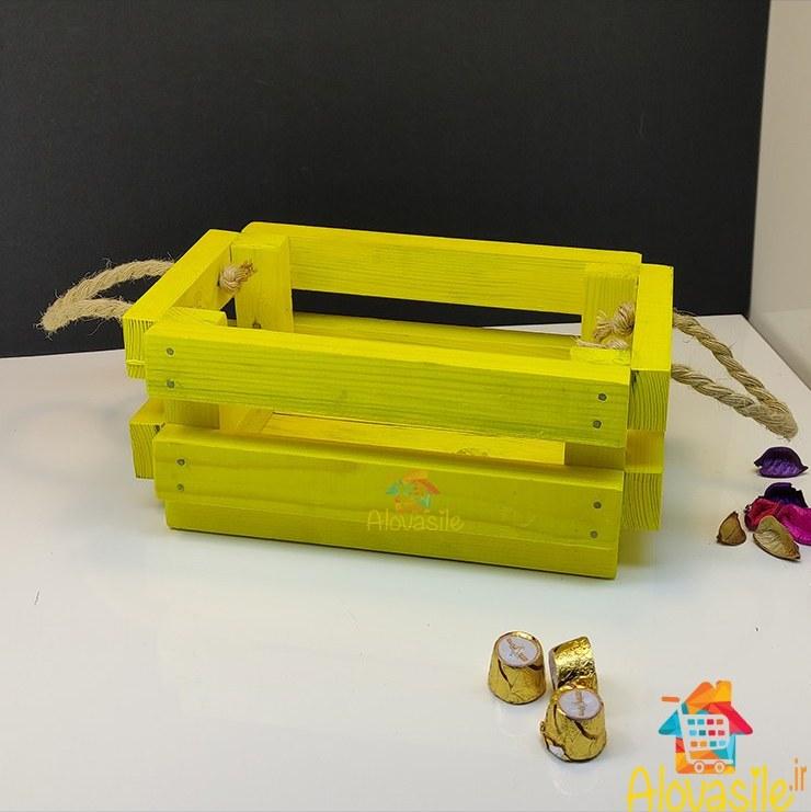 تصویر جعبه هدیه چوبی کنفی سایز ۲