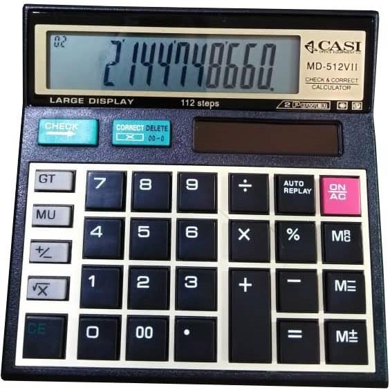 تصویر ماشین حساب مدل CASI MD-512VII