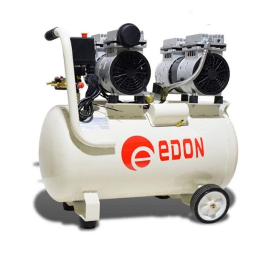 تصویر کمپرسور باد 50 لیتری سایلنت دو موتوره ادون