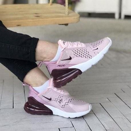 تصویر کفش اورجینال نایک ایرمکس صورتی دخترانه Nike Air Max 270