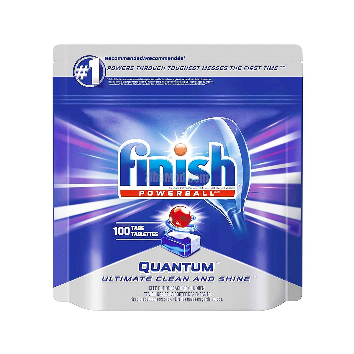 تصویر قرص ماشین ظرفشویی کوانتوم فینیش 100 تایی ا Finish Quantum Dishwasher Tablets, Pack of 100 Finish Quantum Dishwasher Tablets, Pack of 100