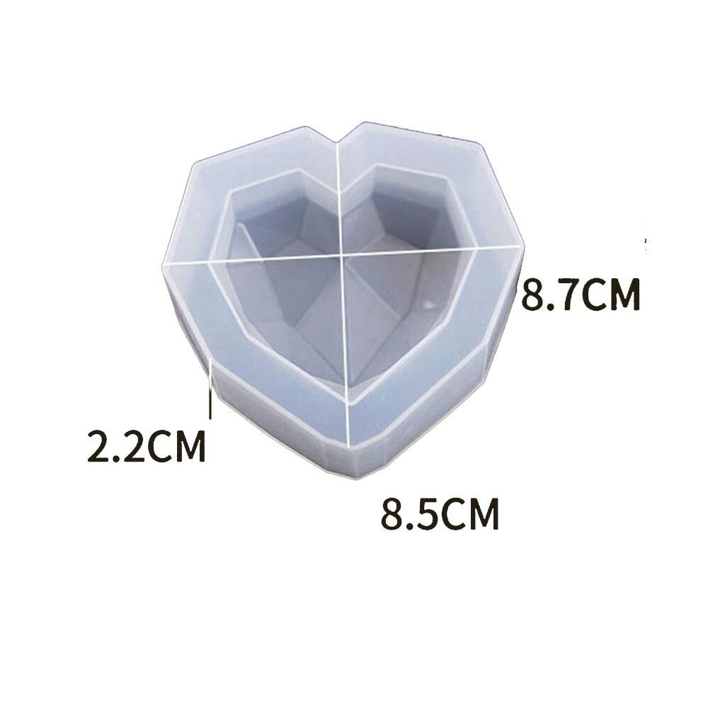 تصویر قالب سیلیکونی رزین قلب کریستالی کد 09
