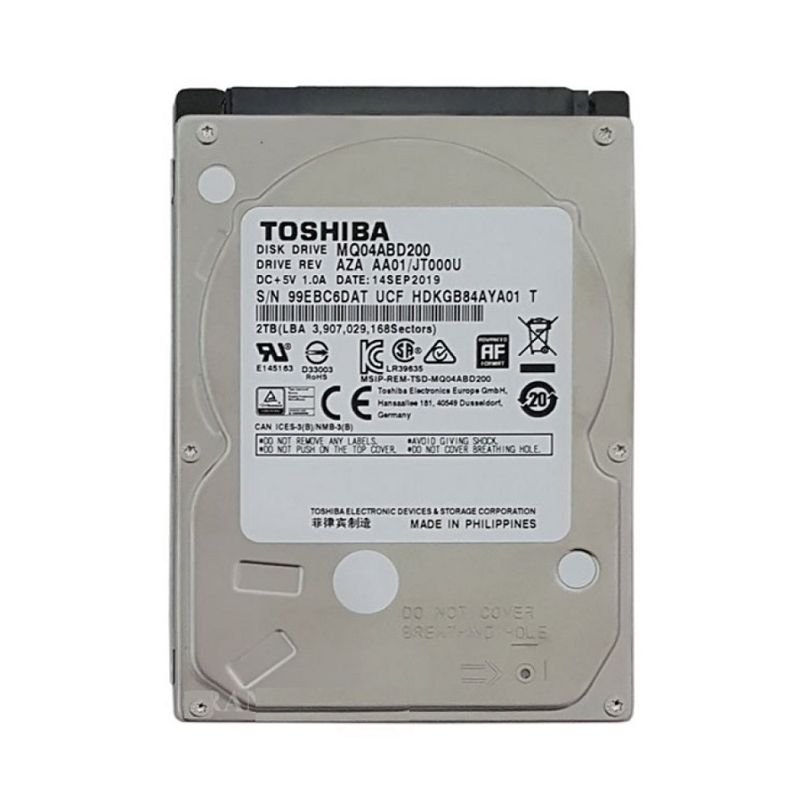 تصویر TOSHIBA Sata 2TB Laptop HDD هارد دیسک لپ تاپ توشیبا با ظرفیت ۲ ترابایت