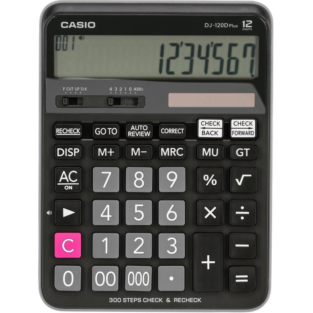 تصویر ماشین حساب کاسیو مدل DJ-120D Plus