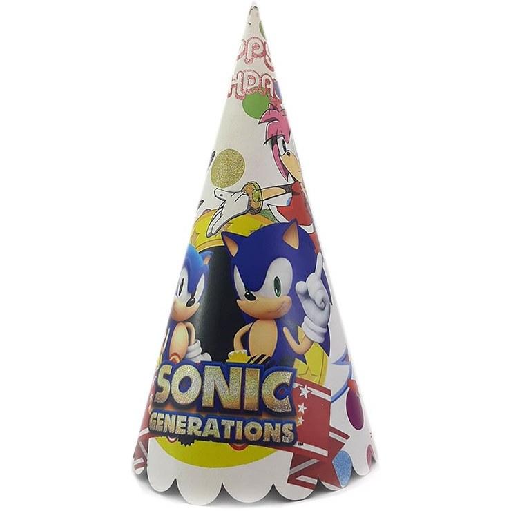 تصویر کلاه بوقی تولد مقوایی فانتزی طرح Sonic