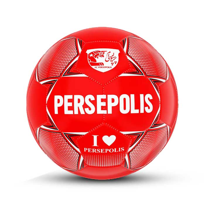 تصویر توپ فوتبال چرمی دوختی سایز 2 پرسپولیس – DPUS2