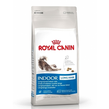 غذای خشک Royal Canin مدل Home Life Indoor مخصوص گربه بالغ مو بلند - 400 گرم |