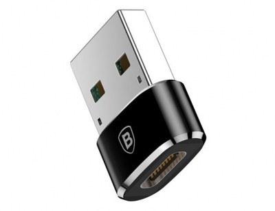 تصویر مبدل تایپ سی به یو اس بی بیسوس Baseus mini Type-C to USB Adapter