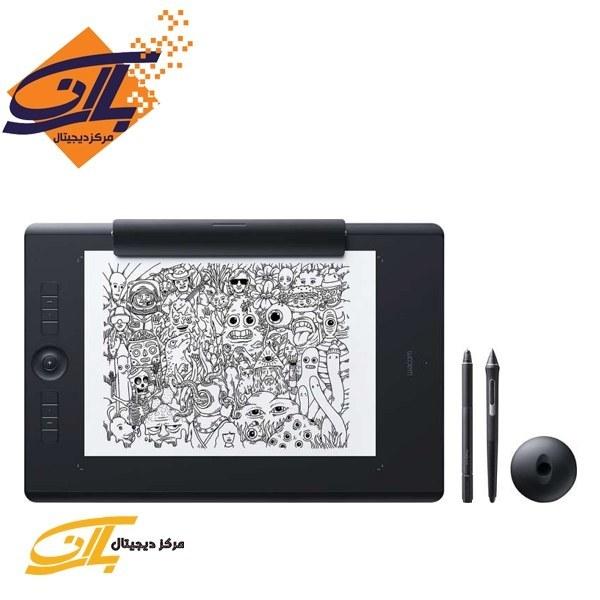 تصویر تبلت گرافیکی و قلم نوری وکام سایز بزرگ مدل اینتوس پرو PTH-860 Wacom Intous Pro PTH-860 Large Pen Tablet