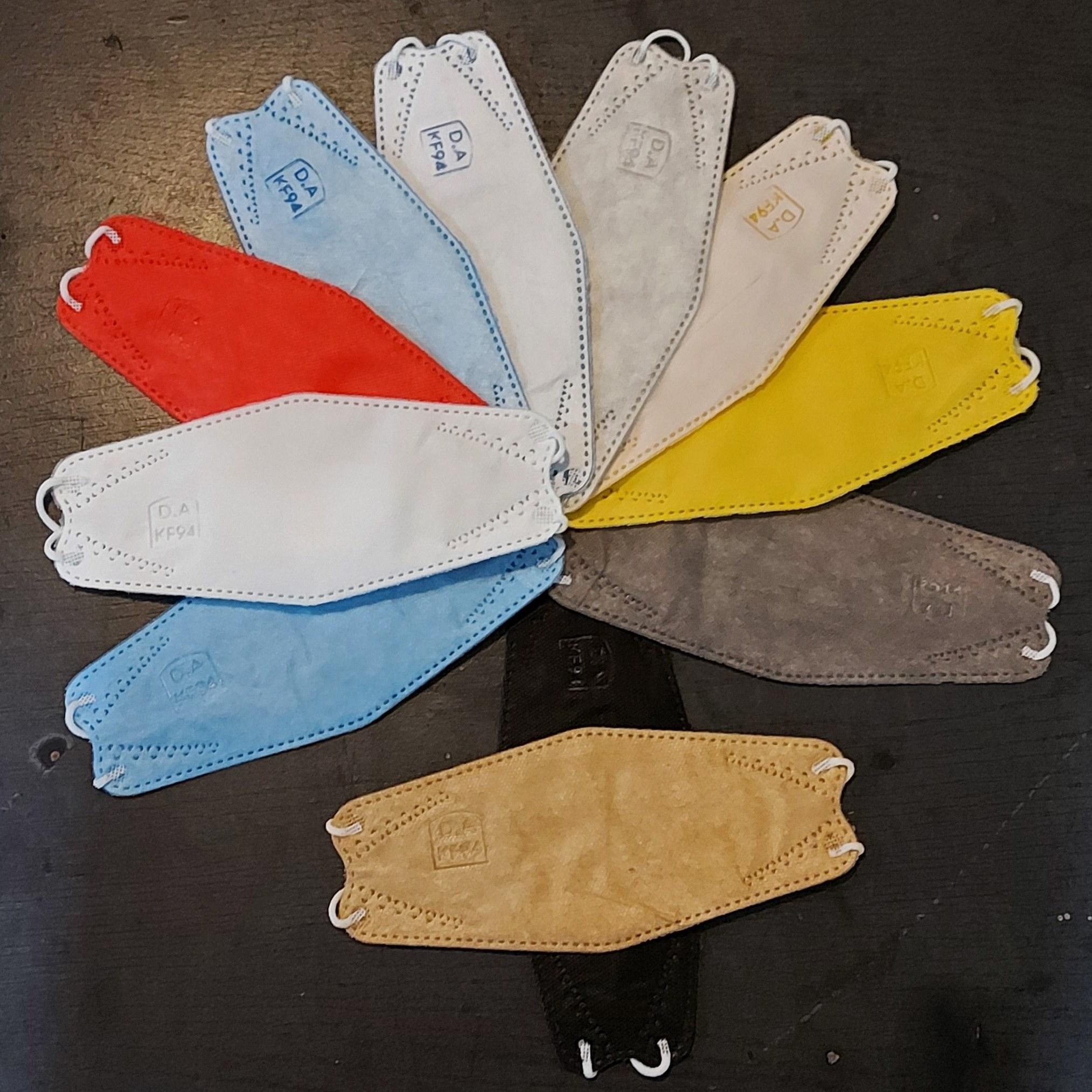 تصویر ماسک سه بعدی 4 لایه KF94 بسته 25 عددی