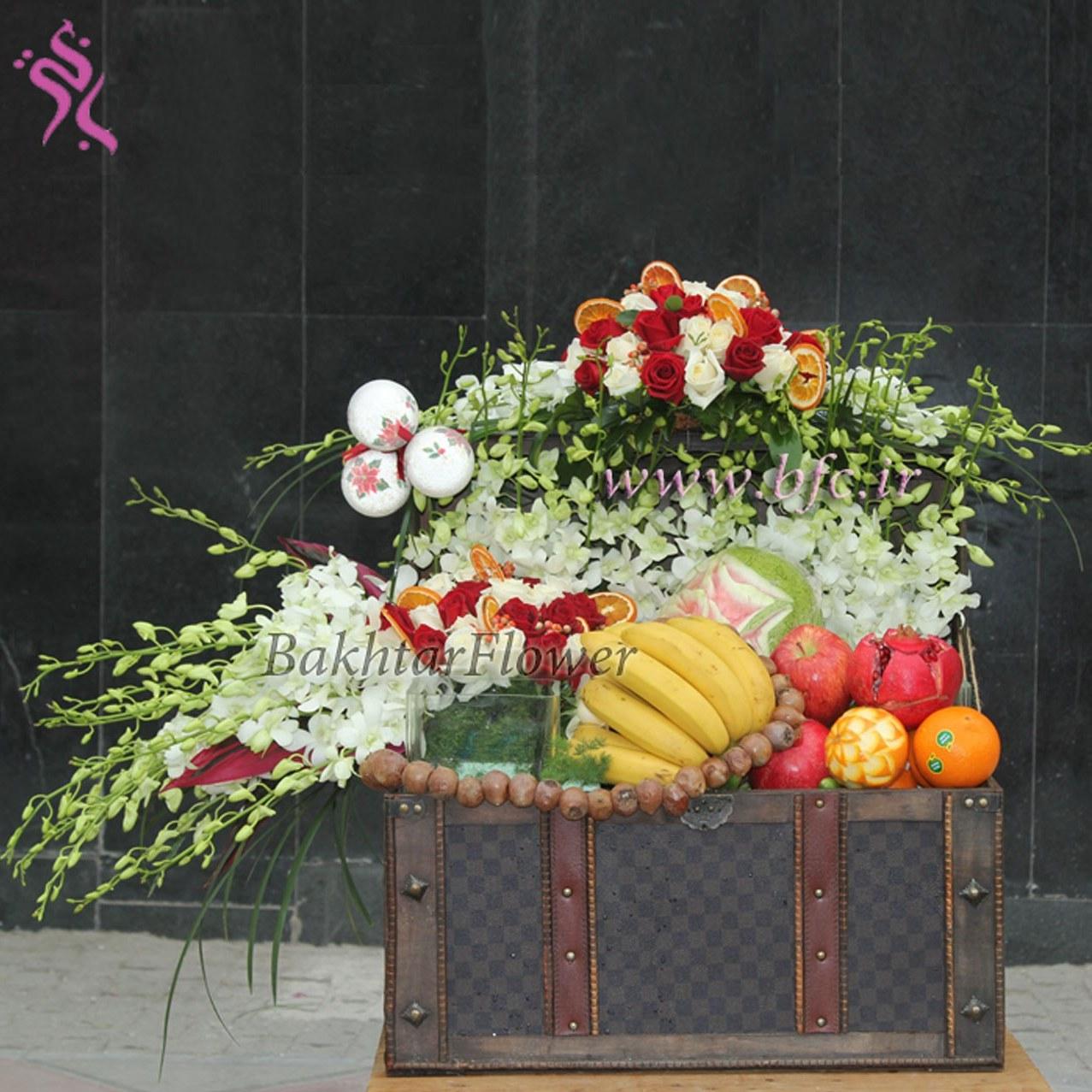صندوقچه ی میوه و گل ویژه شب یلدا |