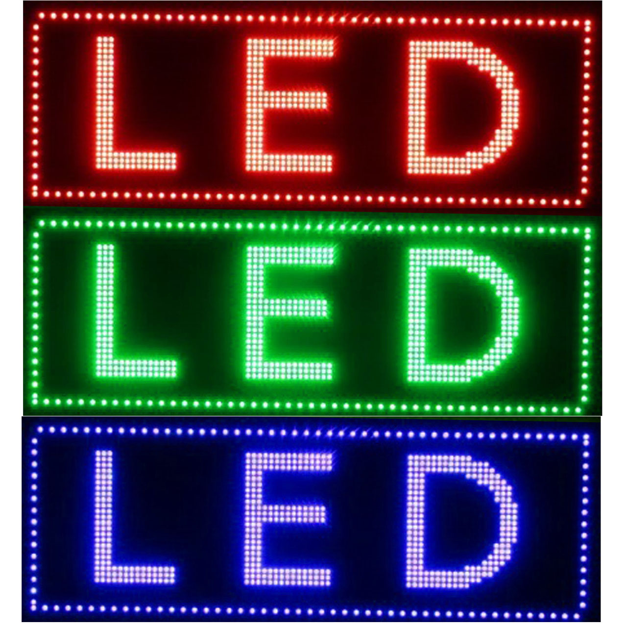 تصویر تابلو روان سایز 42X106 سانت (3 رنگ) LED