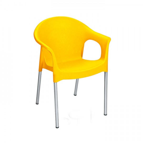 تصویر صندلی پایه فلزی دسته دار کد 990 ناصر پلاستیک