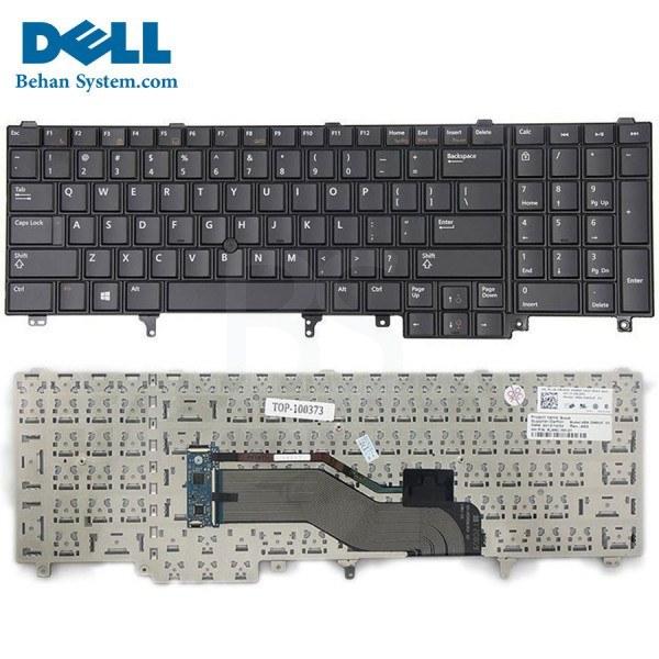 تصویر کیبورد لپ تاپ Dell بدون بک لایت بدون موس مدل Latitude E6540 به همراه لیبل کیبورد فارسی جدا گانه