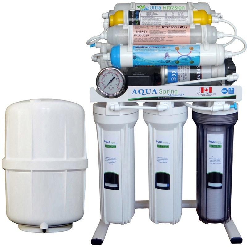 تصویر دستگاه تصفیه کننده آب آکوآ اسپرینگ مدل RO-AF2400