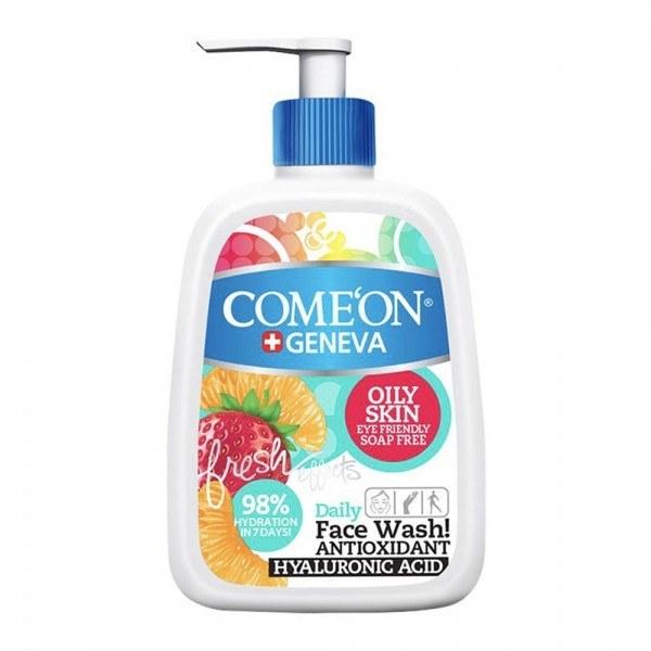 تصویر ژل شستشوی صورت کامان مخصوص پوست های چرب حجم 500 میل ا Comeon Face Wash For Oily Skin 500 ml Comeon Face Wash For Oily Skin 500 ml