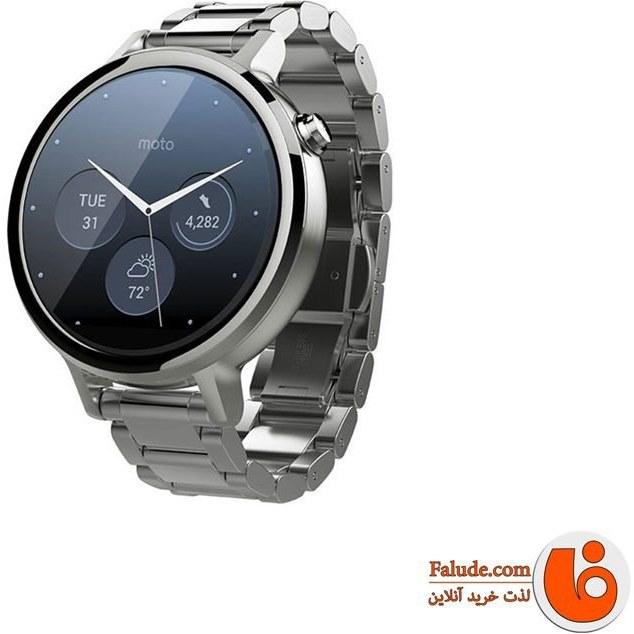 بند استیل رولکسی ساعت هوشمند موتورولا موتو 360 نسل دوم   Motorola Moto 360 2nd Gen 42mm 46mm Rolex Steel Band