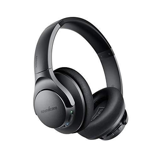 هدفون بلوتوثی Anker Soundcore Life Q20 بلوتوث ، لغو سر و صدای فعال ترکیبی ، 30H پخش ، صدا صوتی با وضوح بالا ، Deep Bass ، فنجان گوش و فنجان مموری فوم ، هدفون بی سیم بالای گوش برای مسافرت ، کار