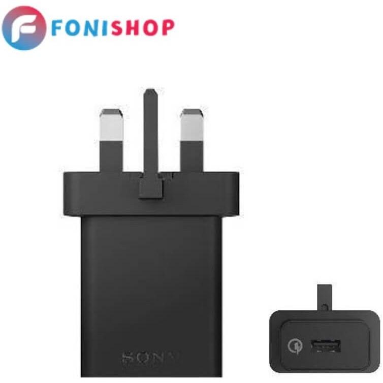تصویر کابل و شارژر فست شارژ اصلی سونی Sony Xperia XA1 Ultra