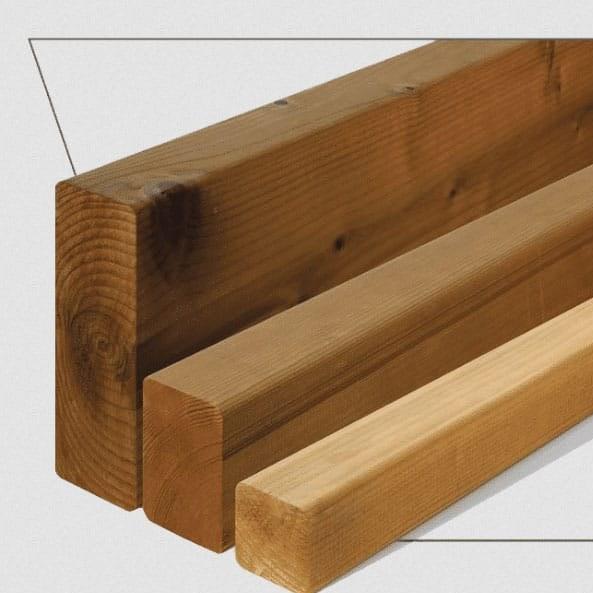 تصویر ترمووود - پروفیل چوب ترمو ساده مدل SHP-Size42 با تکنولوژی فنلاند