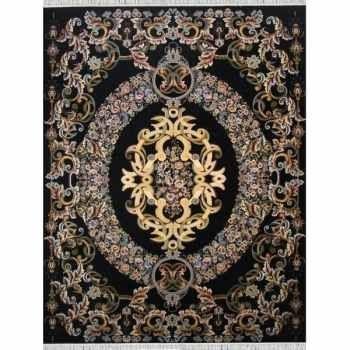 فرش ماشینی مدل violet کد ۵۴۵۴ زمینه سرمه ای |