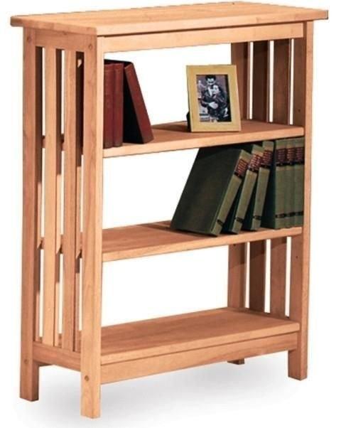 تصویر کتابخانه چوبی