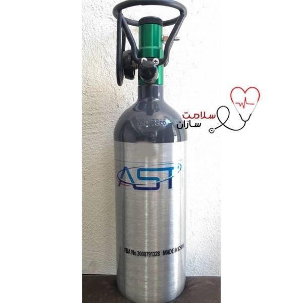 تصویر کپسول اکسیژن 2.5 لیتری AST  ایتالیا المینیومی با لوازم