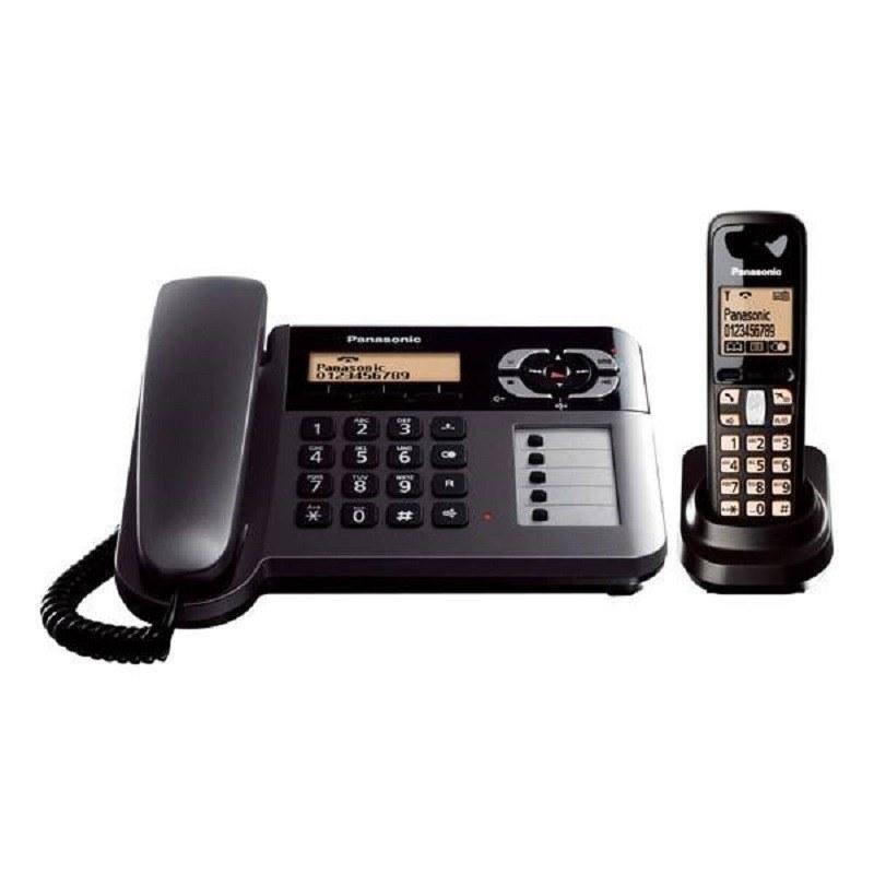 تصویر تلفن بی سیم پاناسونیک مدل KX-TG6461 Panasonic KX-TG6461 Corded & Cordless Telephone
