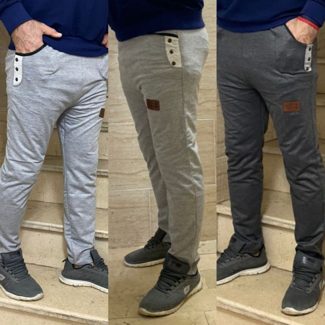 تصویر 👖شلوار اساس مردانه - 100 / خاکستری 1 ا Man pants Man pants
