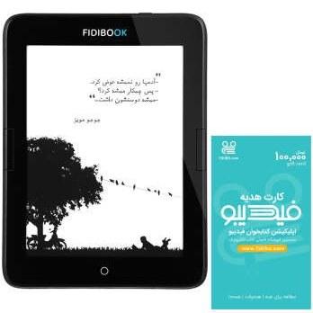 کتاب خوان فیدیبوک مدل Hannah F1 WiFi ظرفیت 8 گیگابایت همراه با کارت هدیه 100000 تومانی فیدیبو | Fidibook Hannah F1 WiFi E-reader 8GB With Fidibo 100000 Toman Gift Card