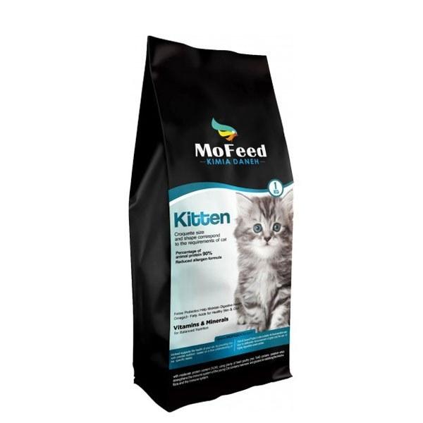 تصویر غذای خشک بچه گربه مفید – MoFeed kitten cat