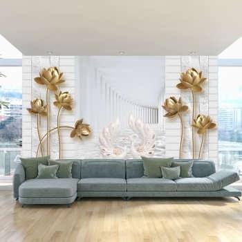 پوستر دیواری سه بعدی طرح گل کد 3DFL014 |
