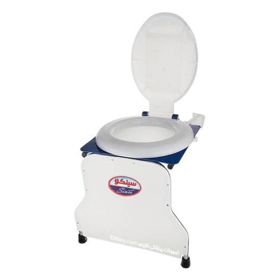 تصویر توالت فرنگی دیواری تاشو قیف دار سینکو