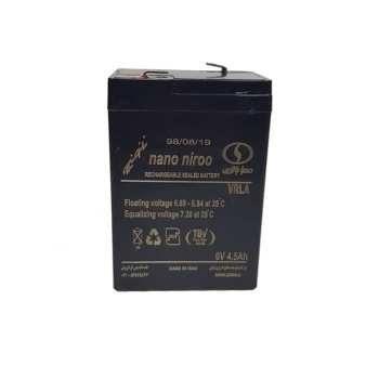 تصویر باتری یو پی اس 6 ولت 4.5 آمپر صبا باتری مدل SB