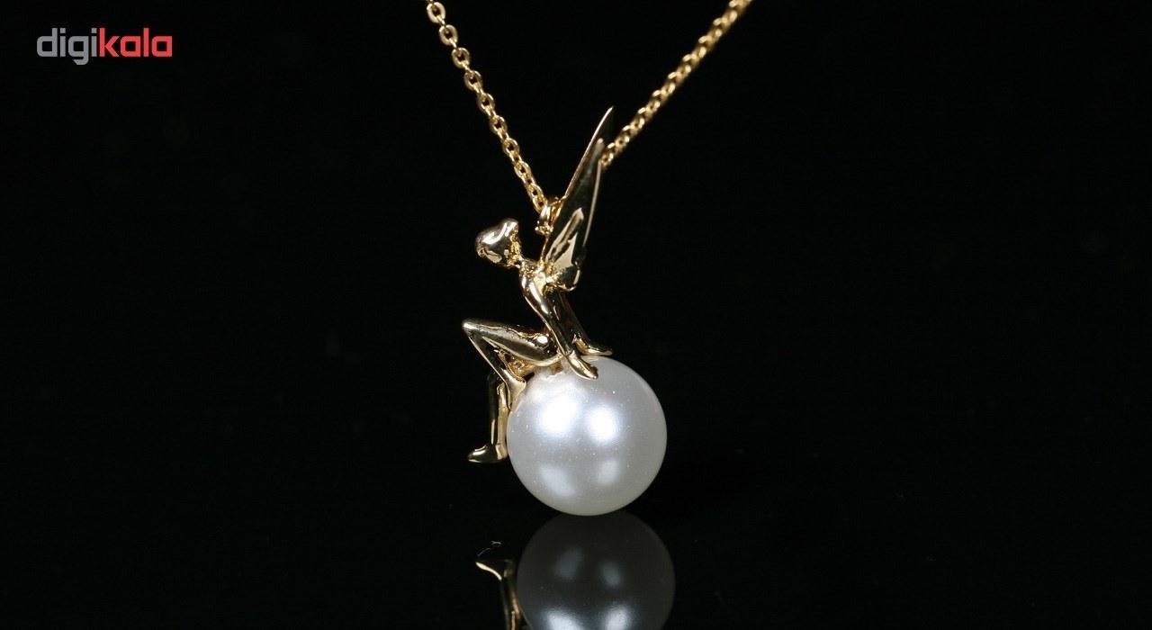 img گردنبند طلا 18 عیار زنانه طرح فرشته
